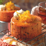 Date and almond mini cakes drenched in orange syrup