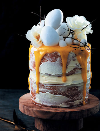 Nesting layer cake with cream cheese icing and lemon curd drizzle recipe