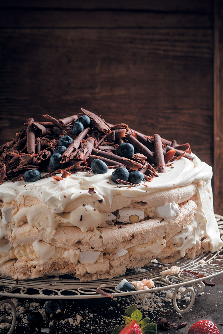 Nougat ice cream cake recipe
