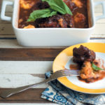 Oxtail stew with polenta balls