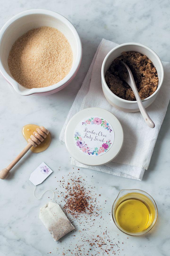 Rooibos chai sugar body scrub