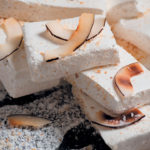Toasted coconut nougat