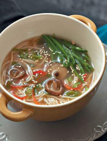 Beef and chilli noodle soup