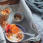 Cashew, coconut and rose granola