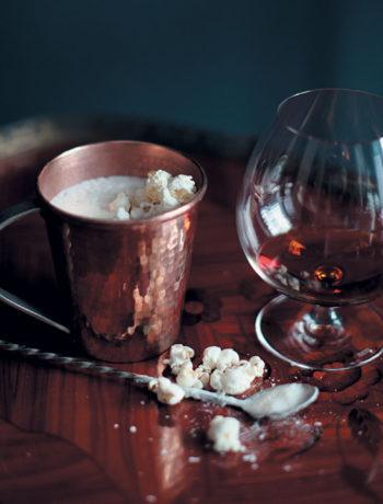 Popcorn and cognac milkshake