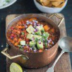Vegan chilli with sweet potato