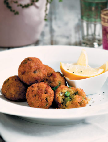 Asparagus risotto balls
