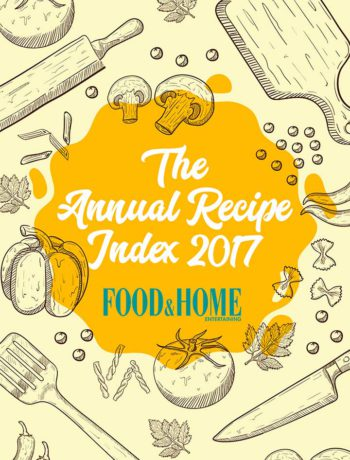 Food & Home Entertaining Annual Recipe Index 2017