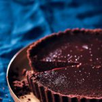 Silky baked chocolate tart with cheat's chocolate crust