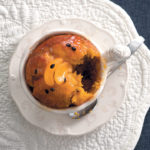 Sticky pumpkin and apricot pudding