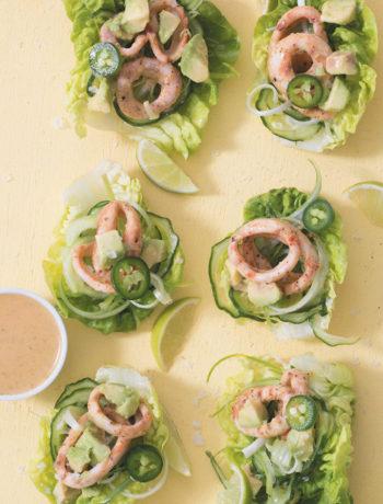Calamari salad cups