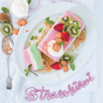 Strawberry and kiwi ice-cream terrine