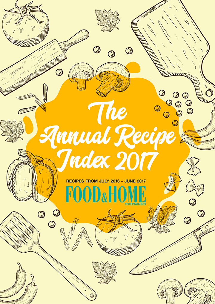 Annual recipe index