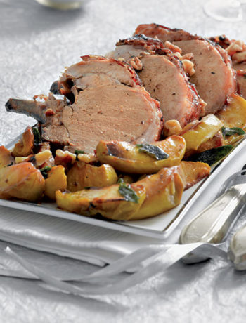 Festive roast rack with caramelised apples