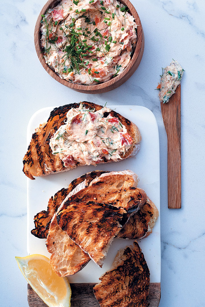 Snoek and sundried tomato pâté with chargrilled ciabatta toast