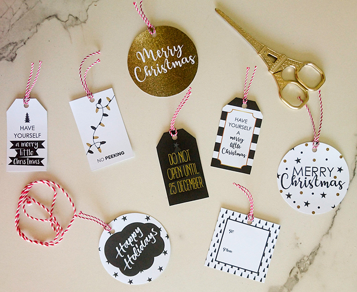 free christmas gift tags - Christmas Gift Decorations