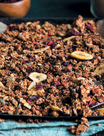 Amaranth and nut butter granola