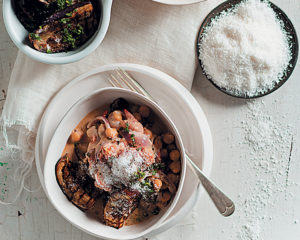 Aubergine, chickpea and coconut curry
