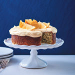 Lemon-poppyseed cake with cream cheese and lemon curd icing