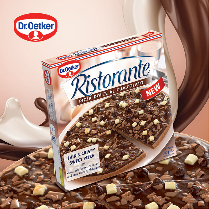 Dr. Oetker's restaurant quality chocolate pizza