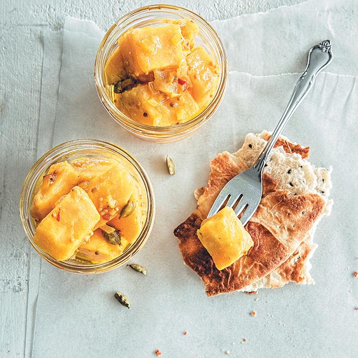 Sweet potato, mustard and cardamom achar