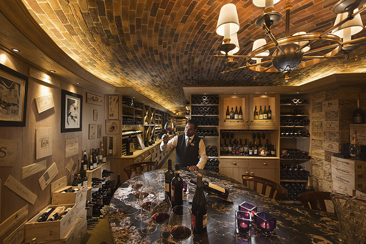 Constance Prince Maurice wine cellar
