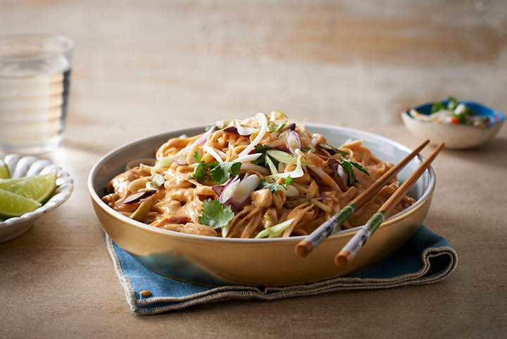 Chicken and peanut pad Thai