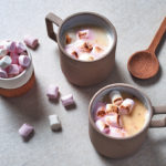 Amarula-spiked white hot chocolate
