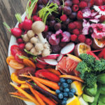 Bejewelled and colour-blocked celebration salad