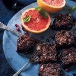 Chocolate and oat breakfast brownies