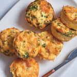 "Four-ingredient chicken and cheese egg ""muffins"""