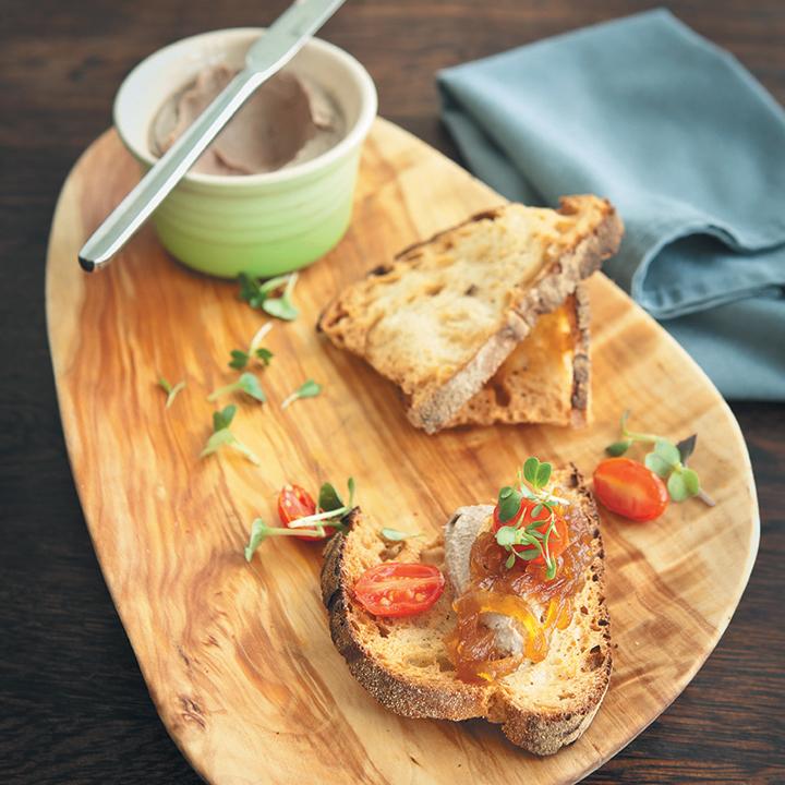Chicken liver pâté with ciabatta toast