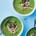 Chicken, pea and mint soup