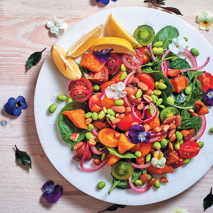 Light and colourful winter harvest salad