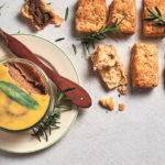 Savoury rosemary scones with chicken liver pâté