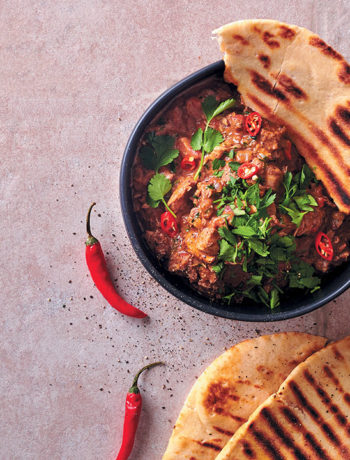 Butter chicken with chargrilled naan bread