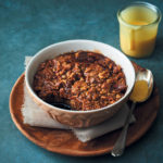Date and walnut self-saucing pudding