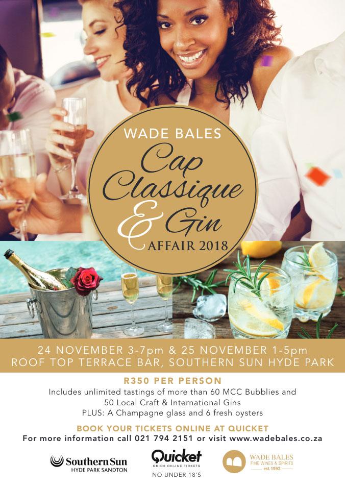 Wade Bales Cap Classique & Gin Affair