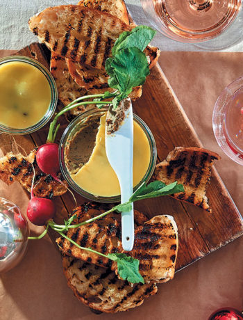 Festive chicken liver and sage pâté with toast