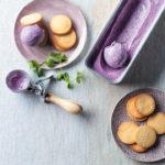 Blueberry ice-cream sandwiches