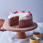 Carrot, banana and beetroot cake with honey-and-yoghurt icing