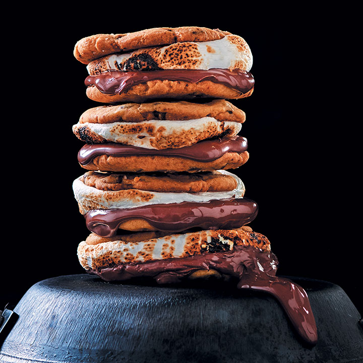 Chocolate and hazelnut s'mores