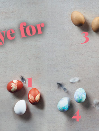 How to dye Easter eggs using organic colours and patterns