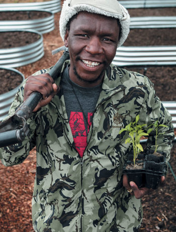 Meet Xolisa Bangani, founder of community project Ikhaya Kulture Garden