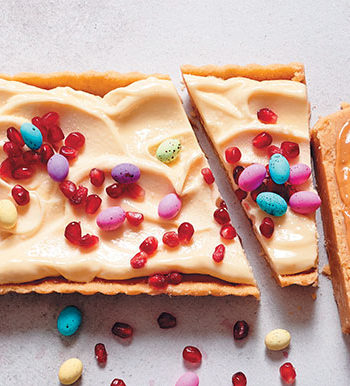 White chocolate and salted caramel tart