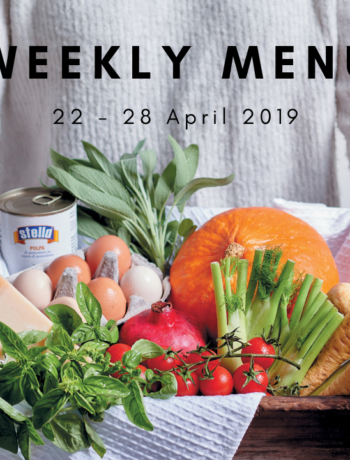 Weekly menu: 22 – 28 April 2019