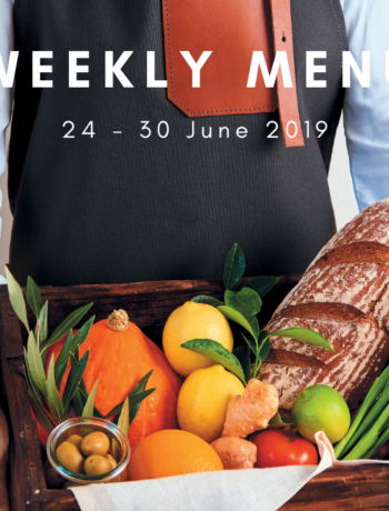 Weekly menu: 24 – 30 June 2019