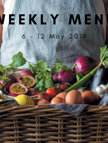 Weekly menu: 6 – 12 May 2019