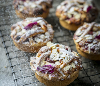 Berry and almond tartlets