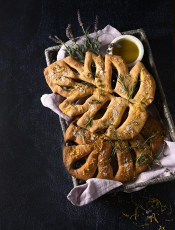 Fougasse with orange zest and Herbes de Provence